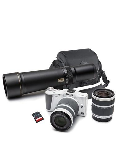 Pixpro S1 3 Adet Lens+Çanta ve SD Kart Hediyeli DSLR Fotoğraf Makinesi-Kodak